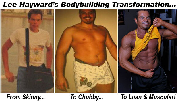 Lee Hayward's Before and After Bodybuilding Pictures