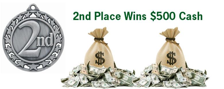 2nd Place Wins $500
