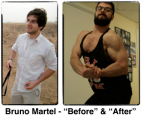 Bruno Martel Muscle Building Progress