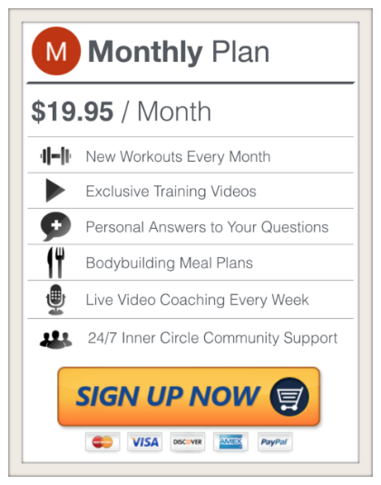 Sign Up For a Monthly Membership